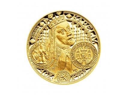 Zlatá mince 10000 Kč Založení Nového Města pražského v r. 1348 ročník 1999 Proof