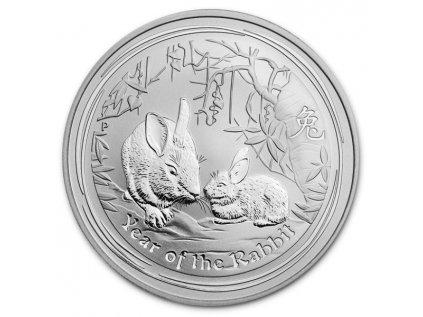 2011 1oz australia silver lunar year of the rabbit bu obverse