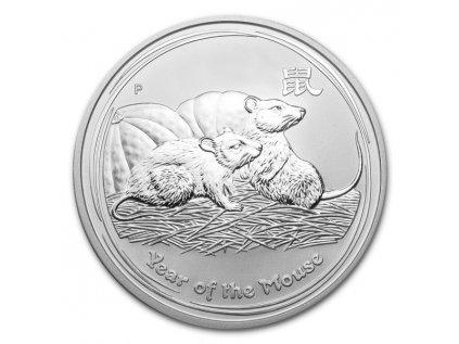 2008 australia 1oz silver lunar year of the mouse bu series ii obverse