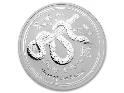 2013 1oz silver australian year of the snake obverse 3