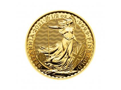 Zlatá investiční mince Britannia 1/2 Oz