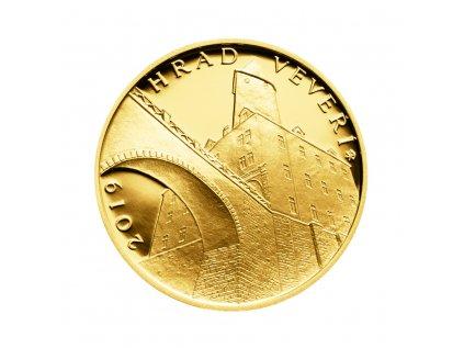 Zlatá mince 5000 Kč Hrad Veveří 2019 Proof