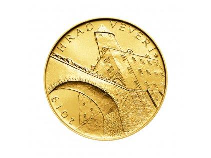 Zlatá mince 5000 Kč Hrad Veveří 2019 Standard