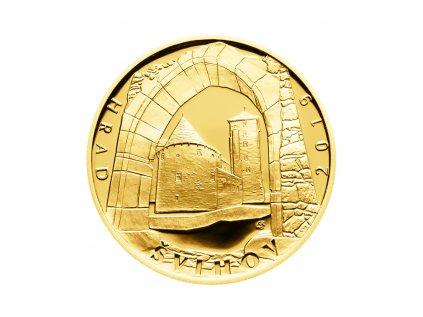 Zlatá mince 5000 Kč Hrad Švihov 2019 Proof