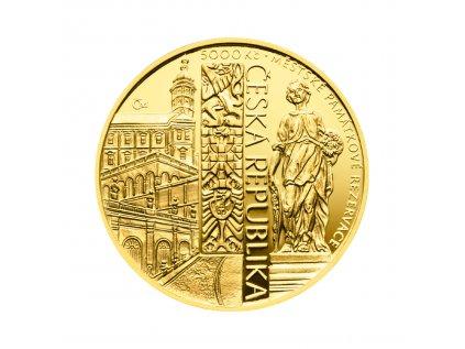 Zlatá mince 5000 Kč Mikulov 2022 Proof