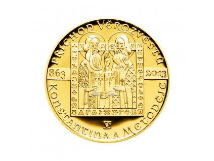 Zlatá mince 10000 Kč Příchod věrozvěstů Konstantina a Metoděje 1oz 2013 Proof