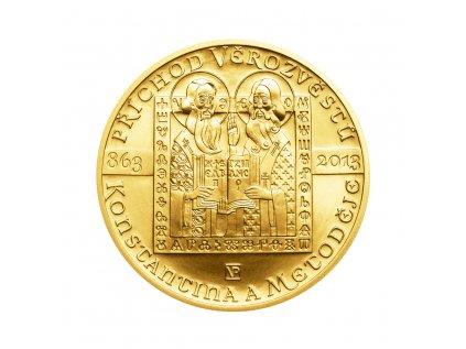 Zlatá mince 10000 Kč Příchod věrozvěstů Konstantina a Metoděje 1oz 2013 Standard