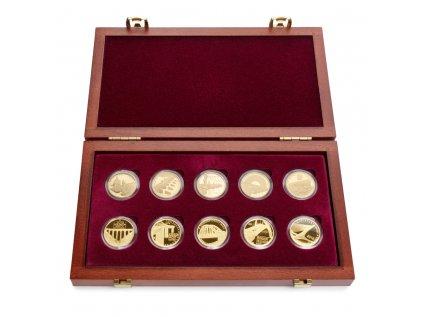 Sada 10 zlatých mincí Mosty 2011 - 2015 Proof
