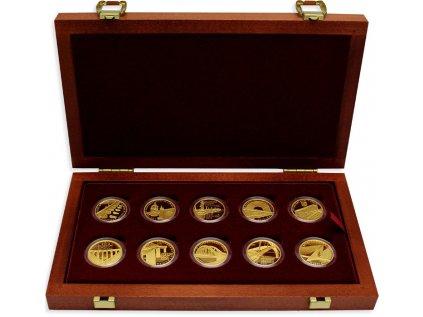 Sada 10 zlatých mincí Mosty České republiky 2011 2015 Proof