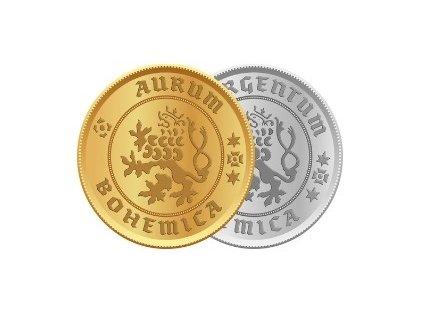 Zlatá mince Karel IV. Dvoudukát Československý 600. výročí úmrtí 1978