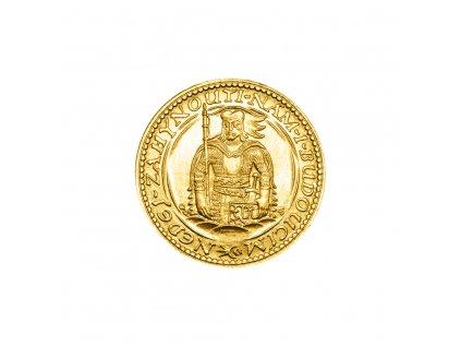 Zlatá mince Svatý Václav Jednodukát Československý 1926