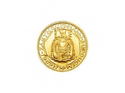 Zlatá mince Svatý Václav Jednodukát Československý 1929