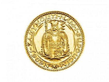 Zlatá mince Svatý Václav Dvoudukát Československý 1934