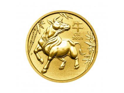 Zlatá investiční mince Rok Buvola Lunar III 1 Oz 2021