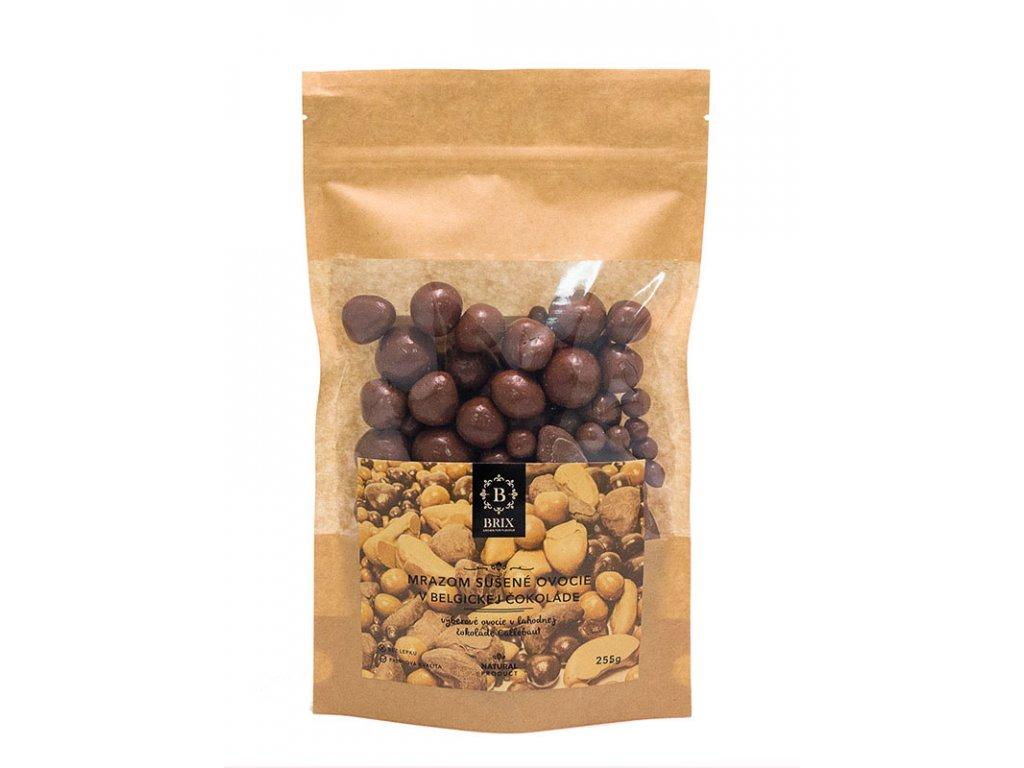 Mrazom sušené ovocie v mliečnej čokoláde 255g