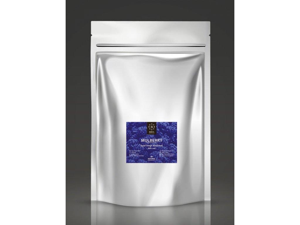 Mrazom sušená moruša čierna - XXL 500g