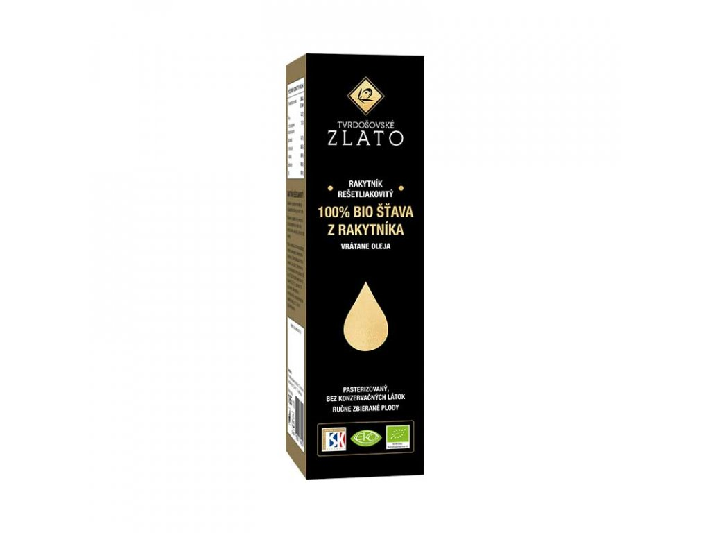 Tvrdošovské zlato 100% BIO šťava z rakytníka – vrátane oleja