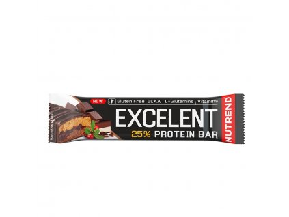 EXCELENT DOUBLE BAR - čokoláda + nugát s brusnicou - 85 g