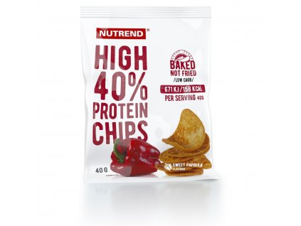 HIGH PROTEIN CHIPS - paprika 6x40 g