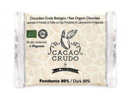 Cacao Crudo - Dark chocolate 80%, Raw & Bio 30 g
