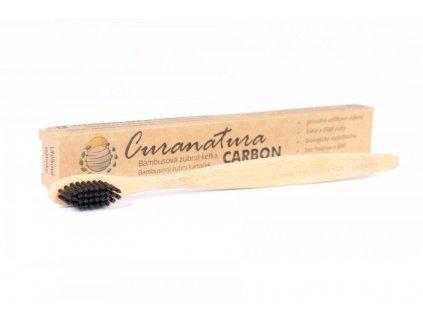 Bambusový zubní kartáček - Carbon, Curanatura