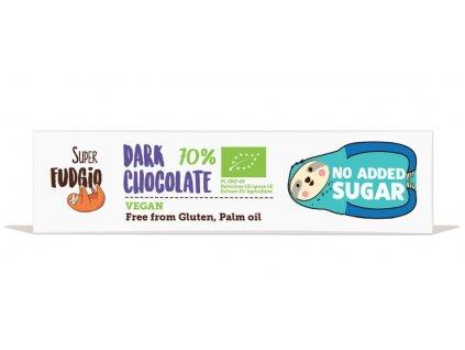 Hořká čokoláda 70% bez přidaného cukru, bio, vegan – Super Fudgio, 40g