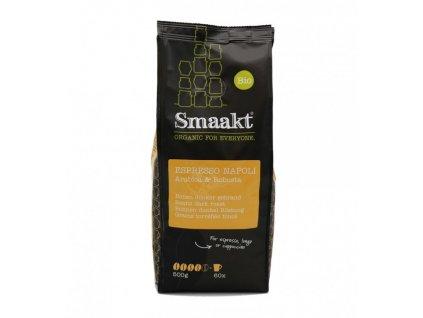Espresso Napoli - Arabica & Robusta, BIO zrnková káva - Smaakt, 500 g
