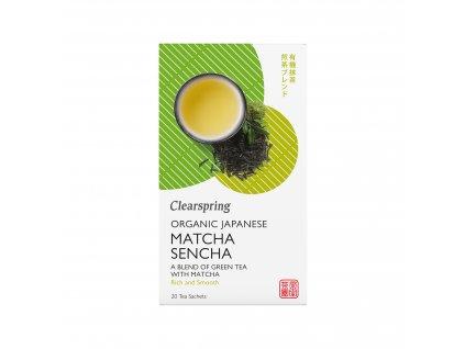 Japonský bio zelený čaj Sencha a Matcha, bio - Clearspring, 20 sáčků
