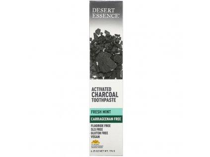 Zubní pasta s aktivním uhlím - Desert Essence