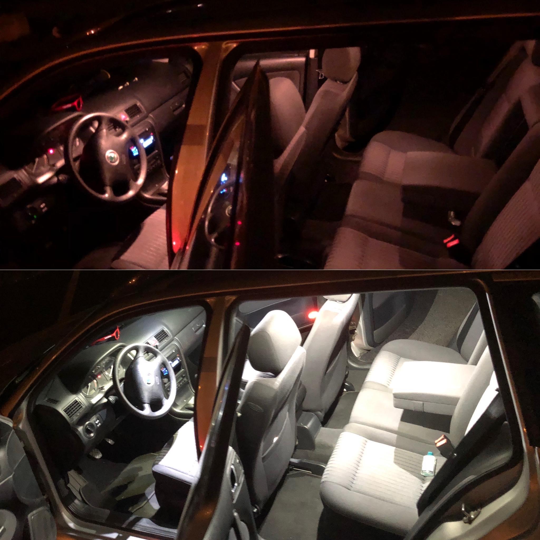 VIDEO: Škoda Octavia 1 LED interiér