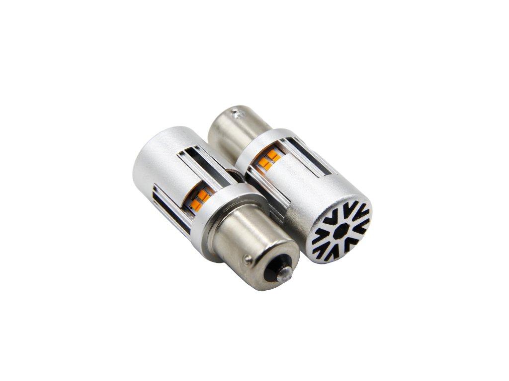 LED blinkry BAU15S s chladičem 2 ks
