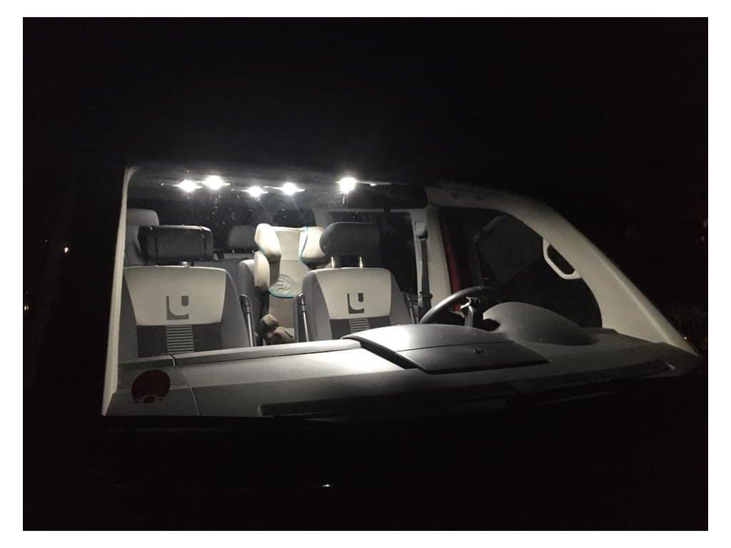 LED stropní osvětlení Volkswagen Transporter T5 SET 11 žárovek