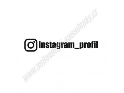 samolepka instagram profil