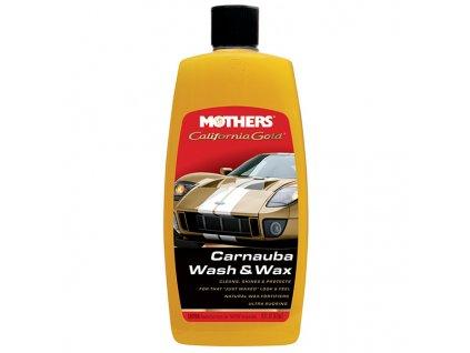 Mothers California Gold Carnauba Wash & Wax - luxusní hustý autošampon s karnaubským voskem, 473 ml