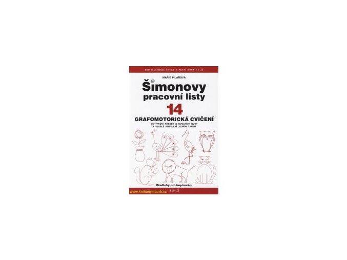 Šimonovy pracovní listy 14 - Grafomotorická cvičení