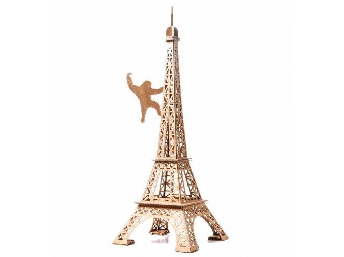 LEOLANDIA Eiffelova vež, 50cm vysoká, přírodní