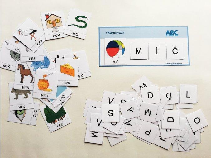 Pismenkovani 1 skladani slov s vizualni podporou 3 pismena 2