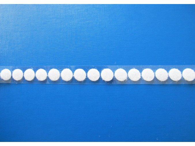 Samolepicí suchý zip - smyčky, kolečka 13 mm bílý