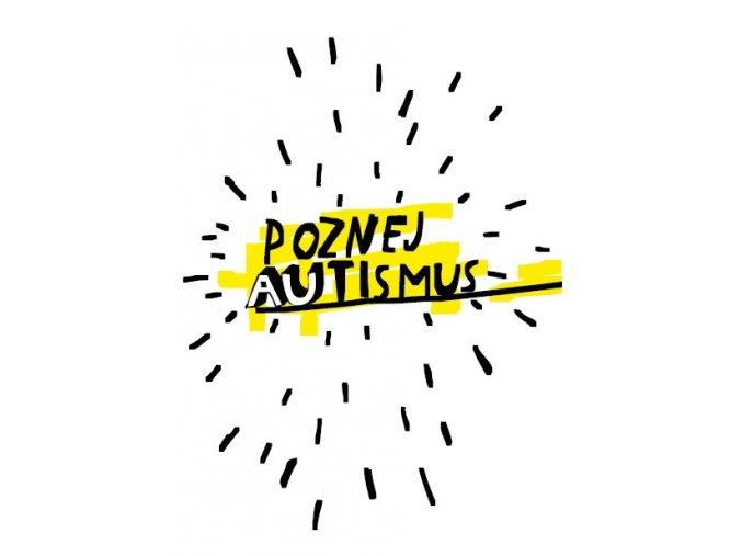 Poznej autismus. Kreslený plakát. APLA Praha