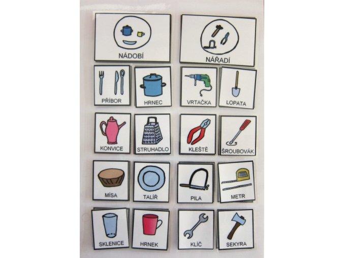 Jiný svět Třídíme - nádobí/nářadí. Strukturované učení