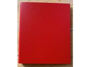 Komunikační kniha velká A4, 5 listů + komunikační řádek, červená