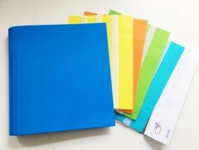 Komunikační kniha velká A4, 5 listů + komunikační řádek, modrá