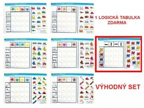 Jiný svět Barvy VÝHODNÝ SET 6 + 1. Logická tabulka na třídění (168 kartiček, 7 tabulek)