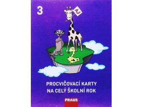 Procvičovací karty na celý školní rok 3 Angličtina (3. ročník ZŠ), Fraus