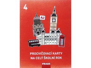 Procvičovací karty na celý školní rok 4 Angličtina (4. ročník ZŠ), Fraus