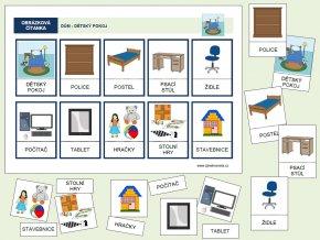 dům dětský pokoj barevný