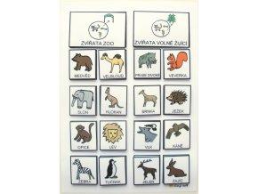 Jiný svět Třídíme: Zvířata ze ZOO / Volně žijící. Strukturované učení