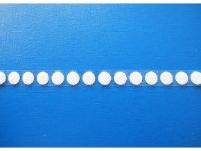 Samolepící suchý zip - háčky, kolečka 13 mm bílý