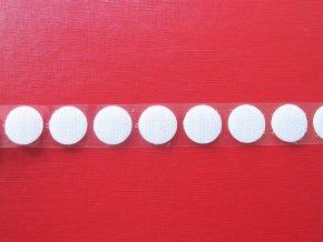 Samolepicí suchý zip - háčky, kolečka 19 mm bílý