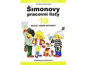 Šimonovy pracovní listy 19 - rozvoj jemné motoriky